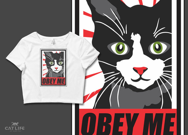 Obey Me - Womens Crop T-Shirt