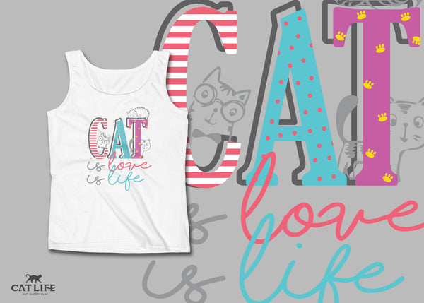 Cat Is - Womens Tank Top