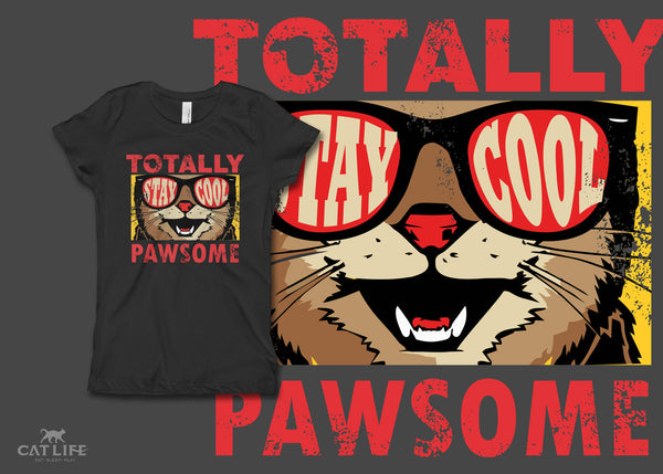 Totally Pawsome- Girls Short Sleeve T-Shirt