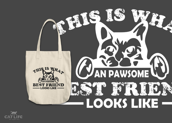 Pawesome Friend - Round Tote