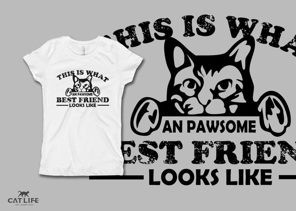 Pawesome Friend - Girls Short Sleeve T-Shirt