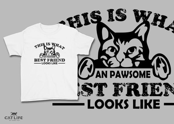 Pawesome Friend - Youth Short Sleeve T-Shirt
