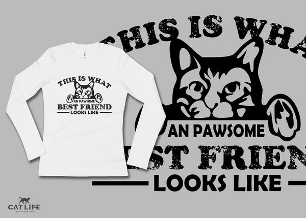 Pawesome Friend - Womens Long Sleeve T-Shirt