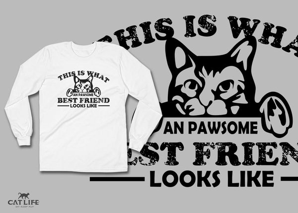 Pawesome Friend - Unisex Long Sleeve T-Shirt