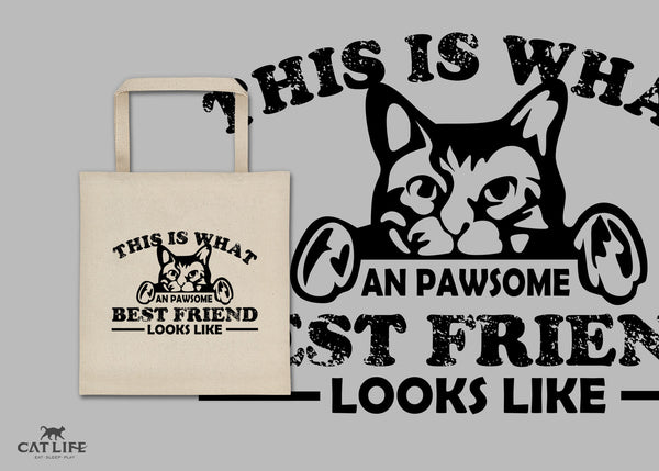 Pawesome Friend - Square Tote