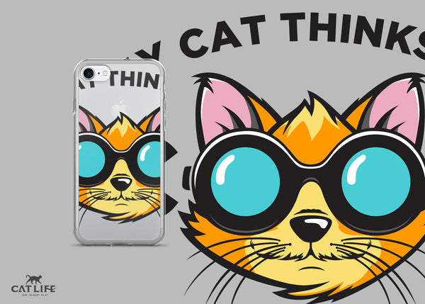 Cat Thinks Cool- iPhone 7/7 Plus Phone Case