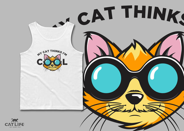 Cat Thinks Cool - Unisex Classic Tank Top