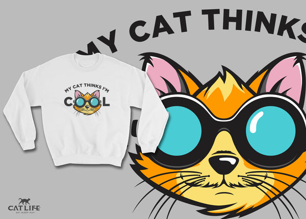 Cat Thinks Cool - Unisex Sweatshirt