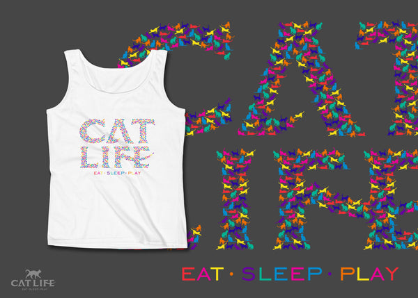 Catlife Multicolor - Womens Tank Top