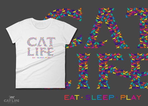 Catlife Multicolor - Womens Short Sleeve T-Shirt