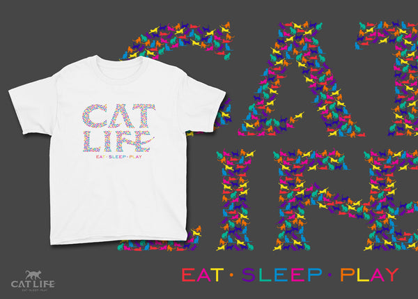 Catlife Multicolor - Youth Short Sleeve T-Shirt