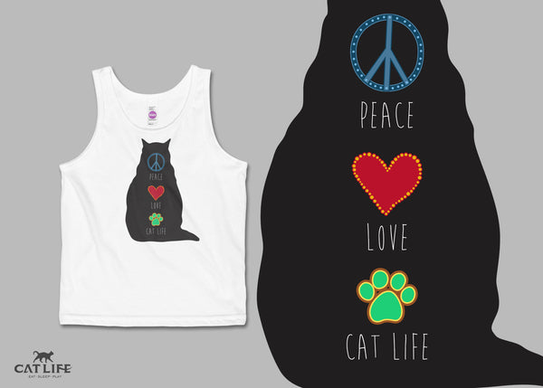 Peace Love CatLife - Tote Round Bag