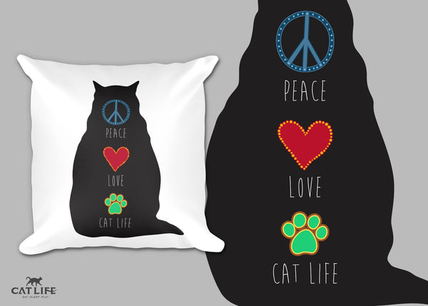 Peace Love CatLife - Pillow