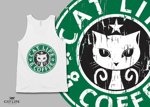 Cat Life and Coffee - Unisex Classic Tank Top