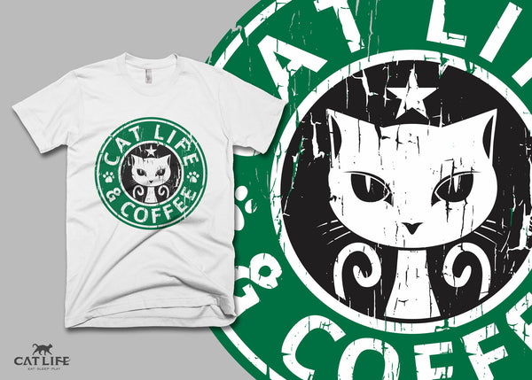 Cat Life and Coffee - Unisex Short Sleeve T-Shirt