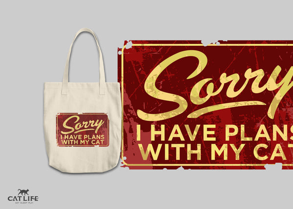 Sorry I Have Plans - Tote Round Tote
