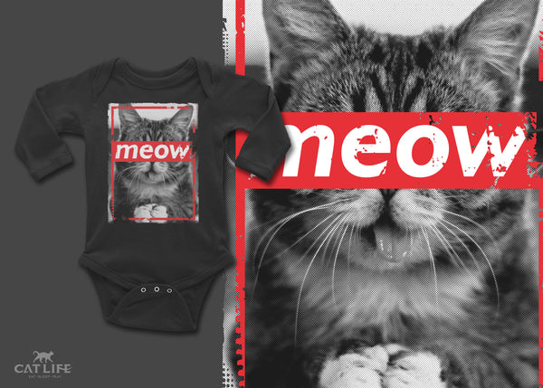 Meow- Infant Long Sleeve Onesie