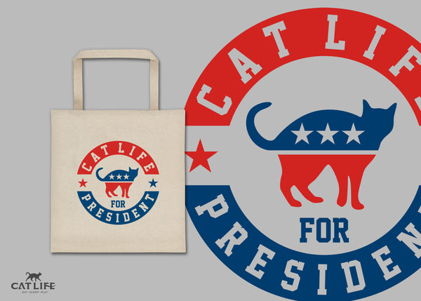 Cat Life For President - Square Tote