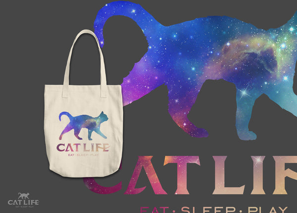 Cat Life Galaxy- Round Tote
