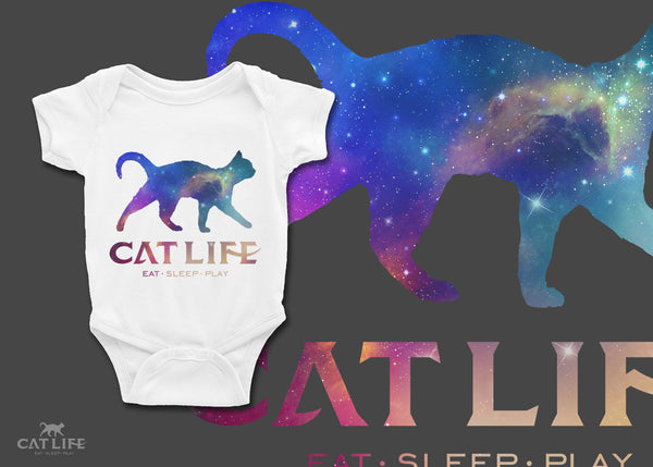 Cat Life Galaxy- Infant Short Sleeve Onesie