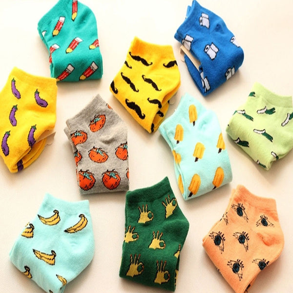 Cute Fruit Design Cotton Summer Style Women's Socks