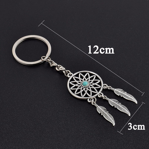 Dream Catcher Silver Plated Key Chain Ring
