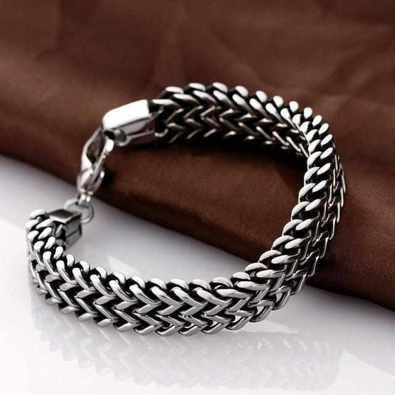 Stainless Steel Double Side Snake Armband-Koopje.com