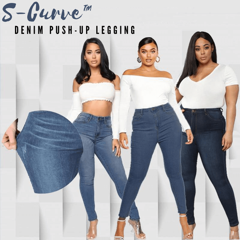 S-Curve™ - Push-up vormende denim legging
