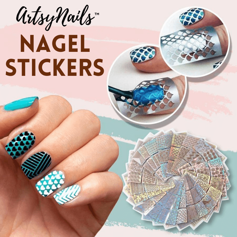 ArtsyNails™ - Nagel Art Stencil Stickers (144 stickers)