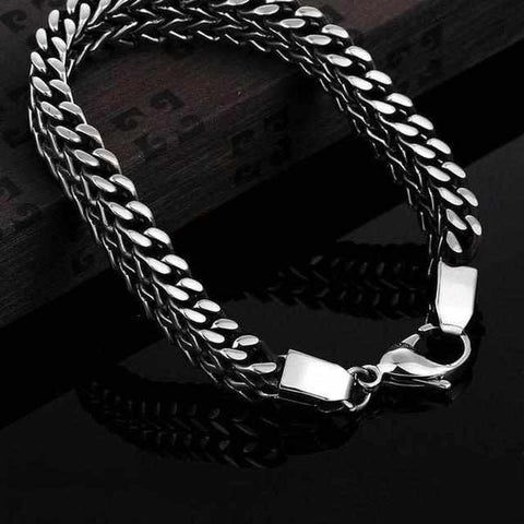 Image of Stainless Steel Double Side Snake Armband-Koopje.com