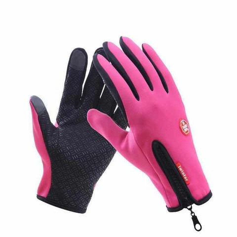 Warme Waterafstotende en Winddichte Touch Screen Fleece Outdoor Ski en Fiets Handschoenen-Koopje.com
