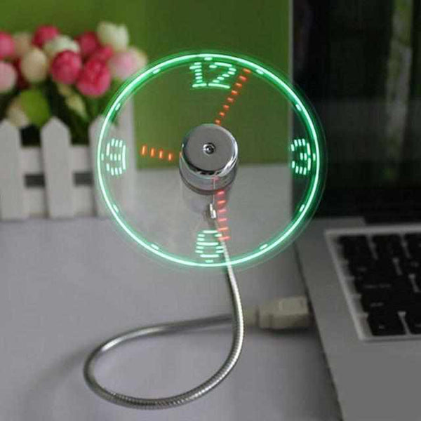LED USB KLOK FAN