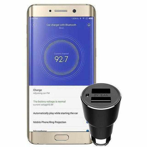 Mobile Phone Chargers - Bluetooth FM Transmitter + Autolader