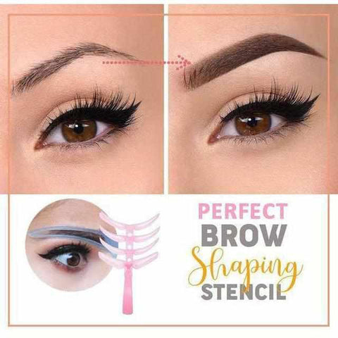 Image of Perfect Brow Stencil (4-Delige Set)-Koopje.com