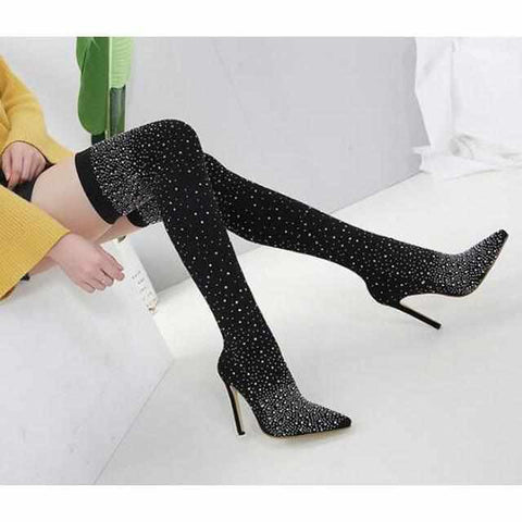 Image of Crystal High Heel Boots-Koopje.com