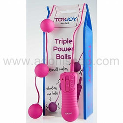 Pembe Triple Power Balls Anal Vajinal Top - Adoni Shop