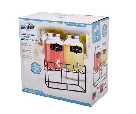 3 PIECE FOUR LITER (GALLON) BOTTLE DISPENSER SET