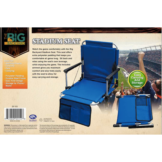 STADIUM SEAT (POLYESTER WITH EPE PADDED )