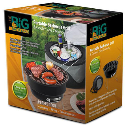 PORTABLE BBQ GRILL & COOLER BAG COMBO