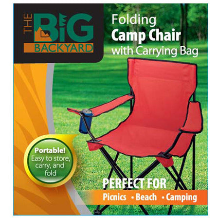 Folding Chair w/carry bag (red)