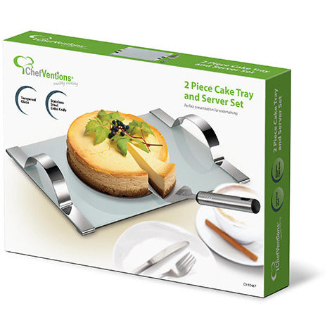 2pc Cake Tray & Server Set