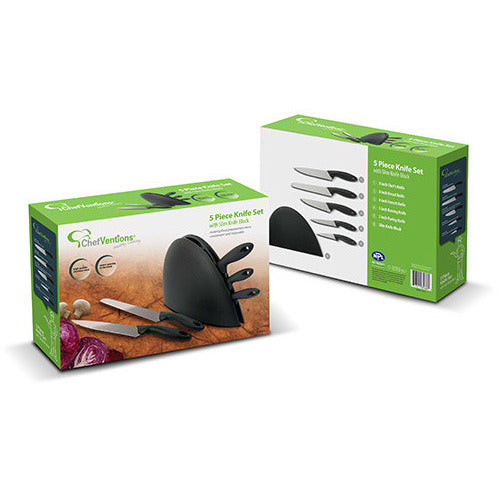 5 pc Knife St w/Slim Knife Block