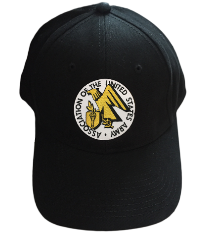 Baseball Cap (Black) with AUSA Logo (A927)