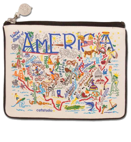 America Zip Pouch