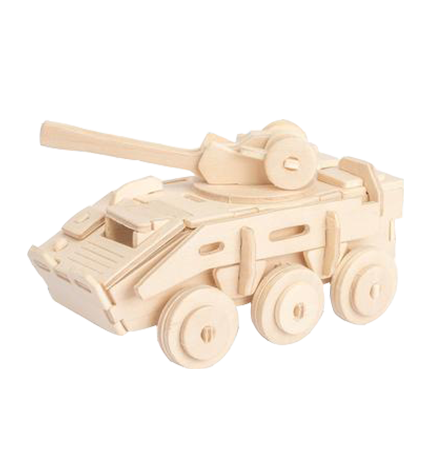 3D Wooden Puzzle - Armored Vehicle