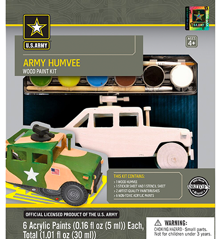 U.S. Army Humvee Licensed Wood Paint Kit (W106)