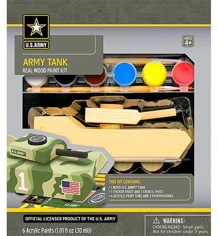 U.S. Army Tank Licensed Wood Paint Kit