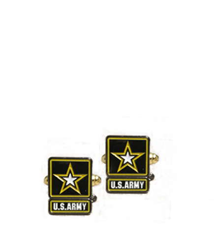 Army Cufflinks - Gold (C103)