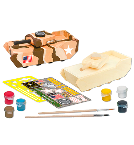 U.S. Army Tank Licensed Wood Paint Kit (W107)