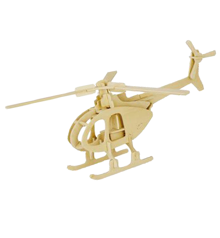 3D Wooden Puzzle - Helicopter (W102)